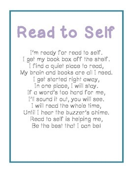 Read to Self Poem