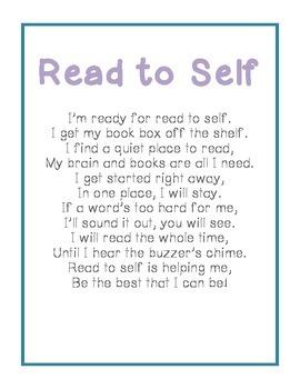 Read to Self Poem