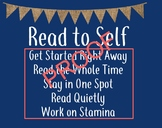 Read to Self Poster-Coral and Navy