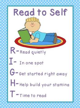 Read to Self Poster Polka Dots