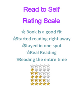 Read to Self Rating Scale and Stamina Tracking Sheet