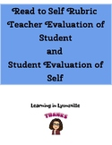Read to Self Rubric for Independent Reading