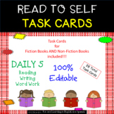Read to Self Task Cards - EDITABLE - Great for Daily 5 & Centers