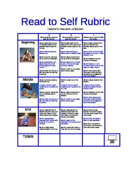 Read to Self Teacher evaluation rubric