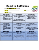 FREE Read to Self menu