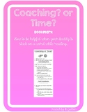 Coaching or Time Bookmark CAFE Read to Someone