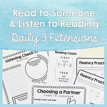 Read to Someone & Listen to Reading - Resources for Big Kids