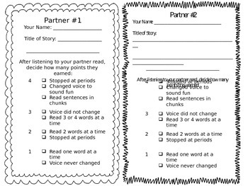 Read to Someone PLUS a fluency tie-in