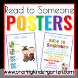 Read to Someone Poster Set FREEBIE