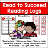 Reading Logs and Homework Program: Read to Succeed (Monthly Logs/Back to School)