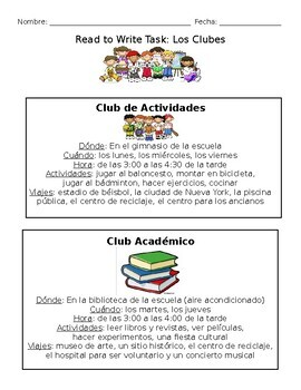 Read to Write: School Clubs