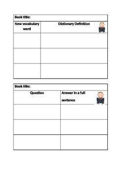 Read to self task cards for extension