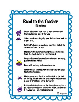 Read to the Teacher - iPad