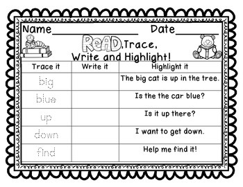 Read, trace, write and highlight