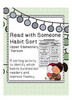 Read with Someone Habit Sort UPPER Elementary