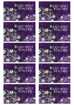 Read with Teacher Daily 5 Choice Cards (Purple Theme)