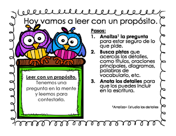 Read with a Purpose Posters in English and Spanish
