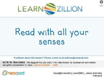 Read with all your senses