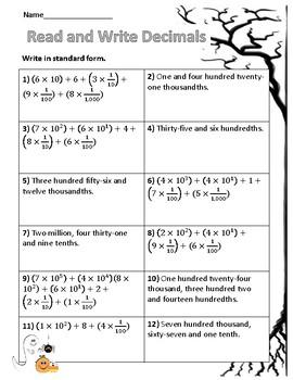 Read, write, and compare decimals