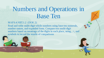 Read, write, and compare numbers Instructional PowerPoint