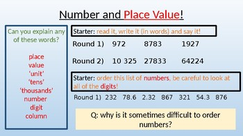 Read, write, order and compare numbers to at least 1,000,000