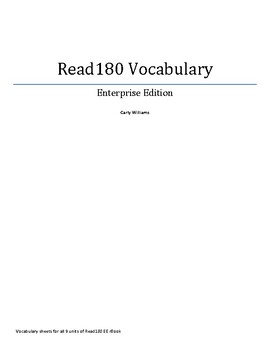 Read180 Enterprise Edition C Vocabulary