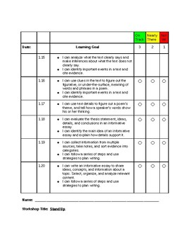 Read180 Universal Learning Goal/Scale Workshop 1