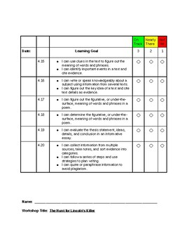 Read180 Universal Learning Goal/Scale Workshop 4