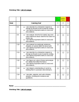 Read180 Universal Learning Goals and Scale Template-Workshop 3 Stage B
