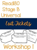Read180 Universal Stage B Exit Tickets- Workshop 1