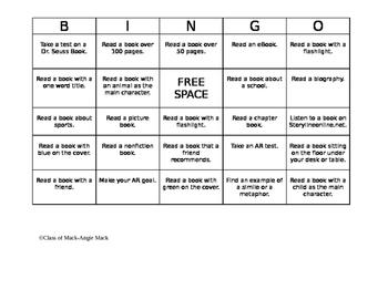 ReadQuest from Coast to Coast Bingo Board-EDITABLE