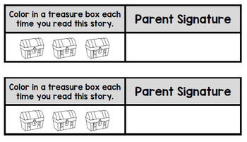 Read Well Intervention Parent Signature Page for Homework
