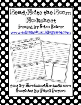 Read/Write the Room Worksheet-FREE!
