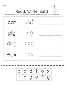Read*Write*Build CVC WORDS