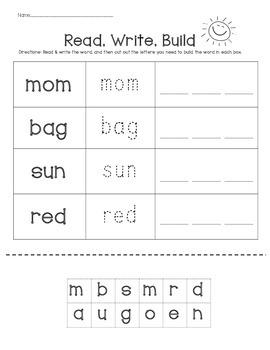 Read*Write*Build CVC WORDS