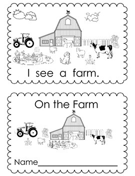 On The Farm Mini Book