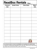 Readbox Book Sign Out Sheet