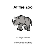English Emergent Reader - At the Zoo