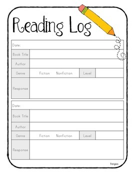 Reading Journal with Response Prompts