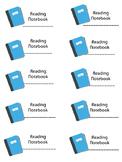 Reader Notebook label