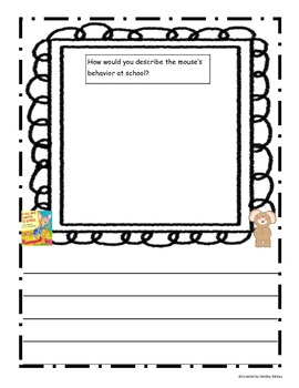 Reader Response Activities ~ Back To School ~ Differentiated!