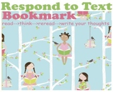 Reader Response Activity {Respond to Text Bookmark with Perfect Text}