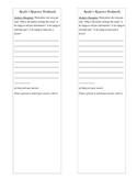 Reader Response Bookmark Author's Purpose