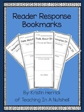 Reader Response Bookmarks