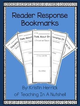 Reader Response Bookmarks