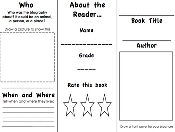 Reader Response Brochure for Biographies {Common Core Aligned}