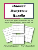 Reader Response Bundle || 10 Graphic Organizers for ANY Text!