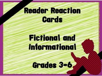 Reader Response Cards Grades 3-6