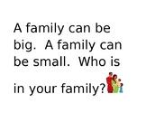 Reader Response Cards Theme-Family