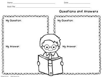 Reader Response Sheets